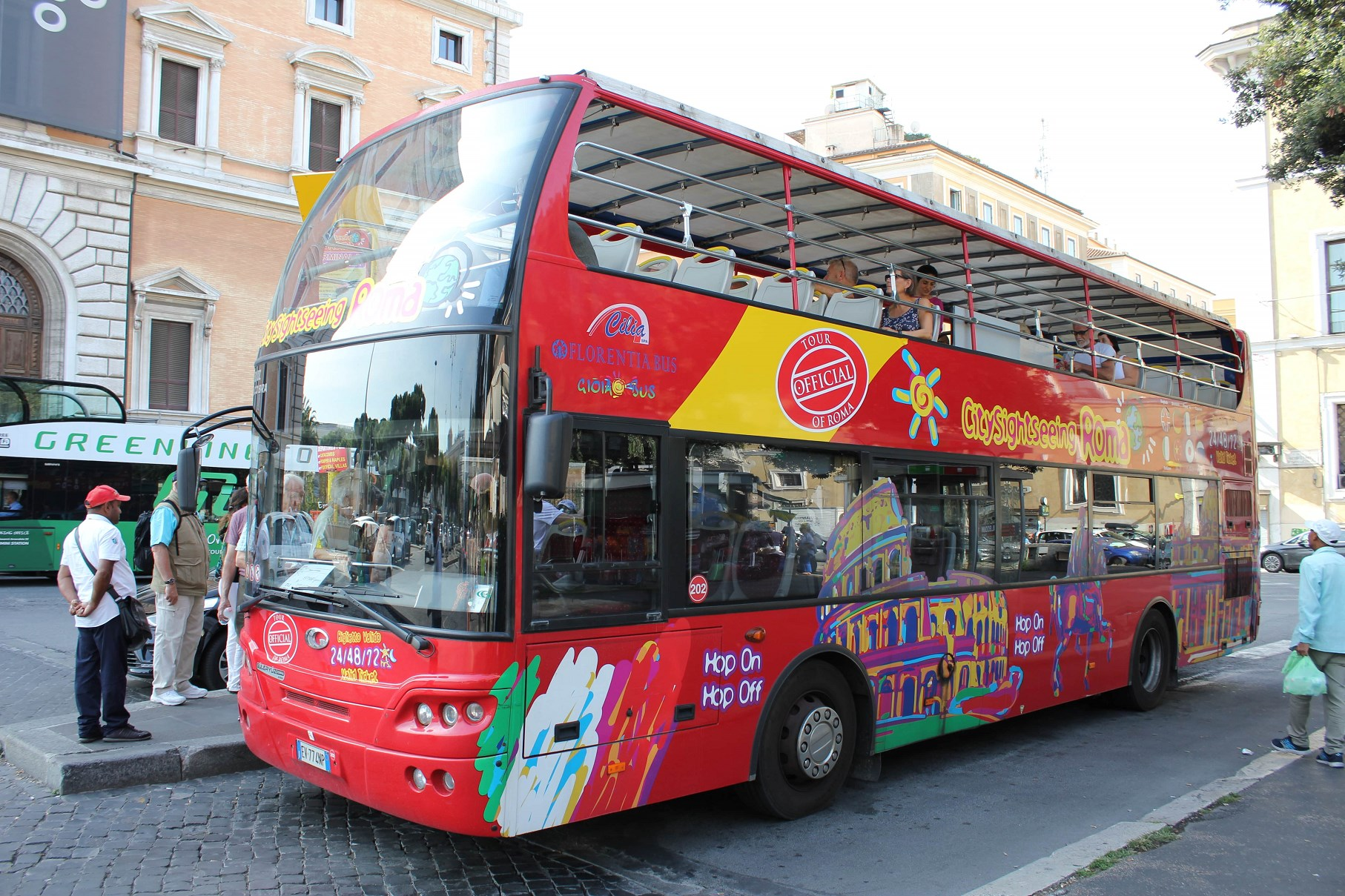 roma pass hop on hop off bus rome