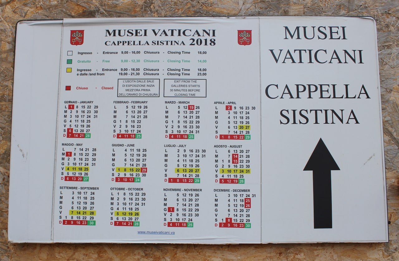best time to visit the Vatican opening hours