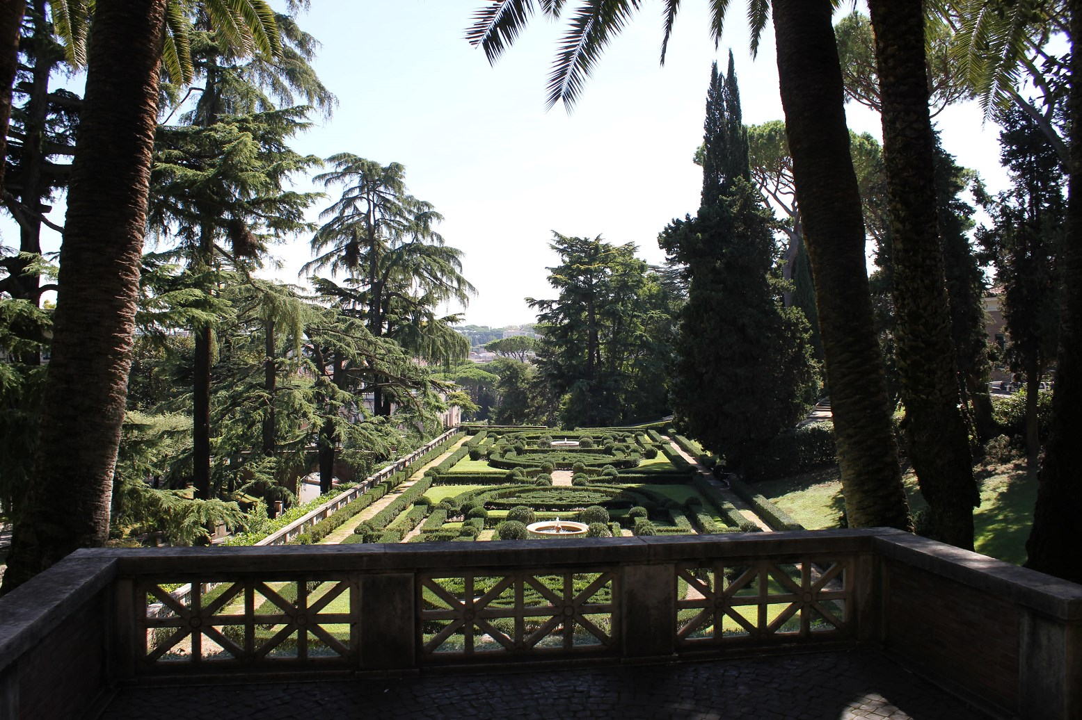 vatican gardens window view