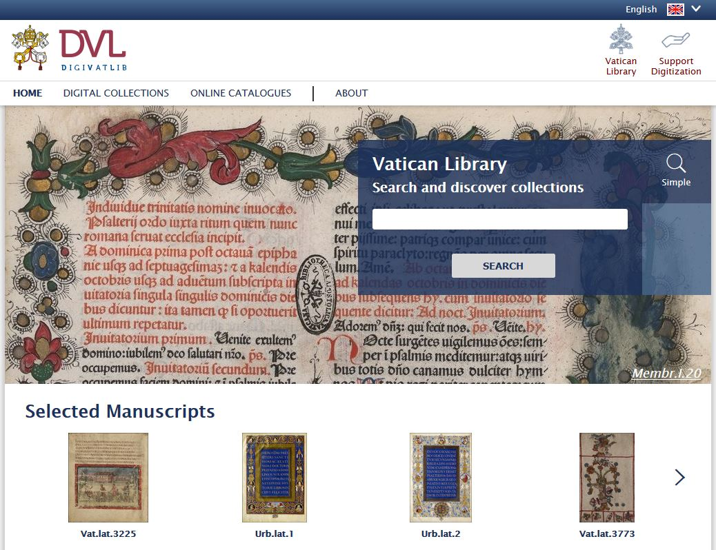 vatican library collection DigitVatLib