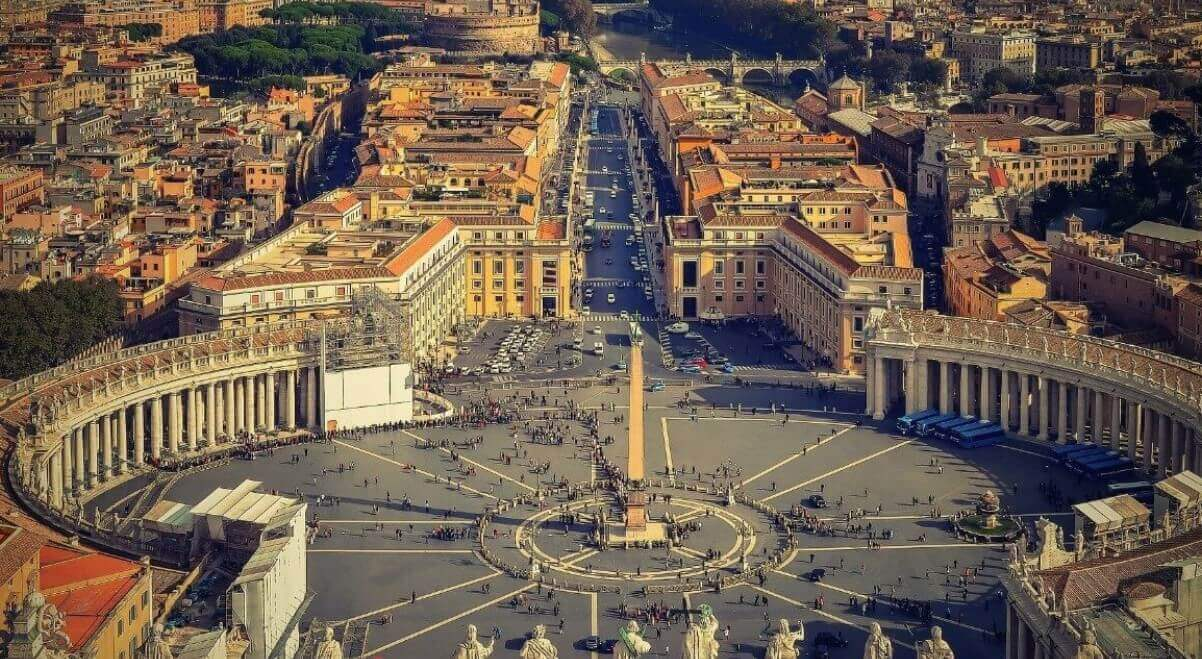 St Peter's Square view
