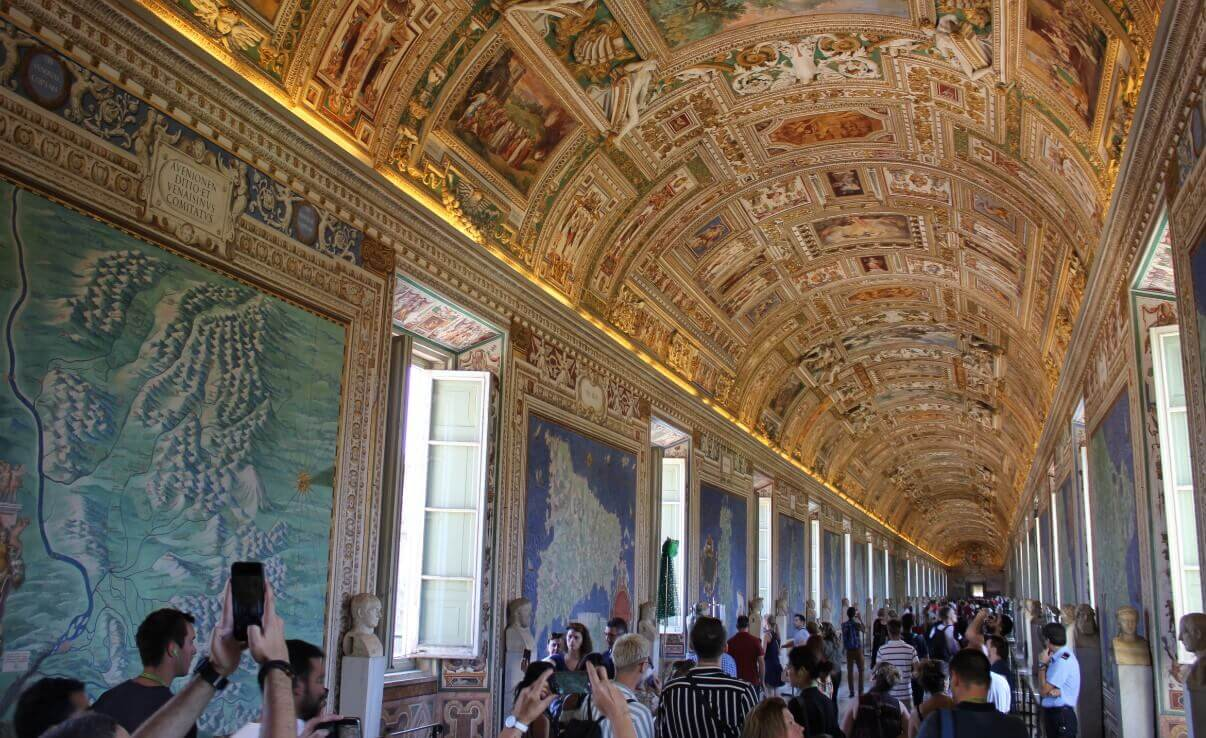 Hall of maps in Vatican