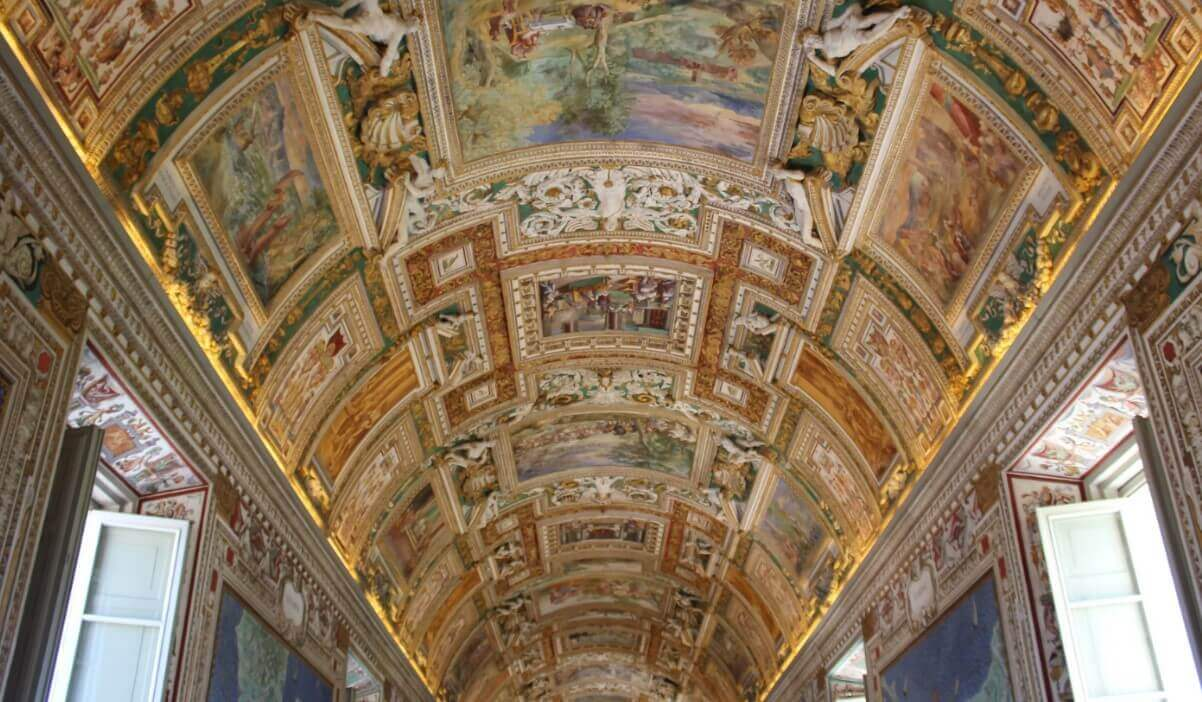 Vatican Gallery of maps ceiling