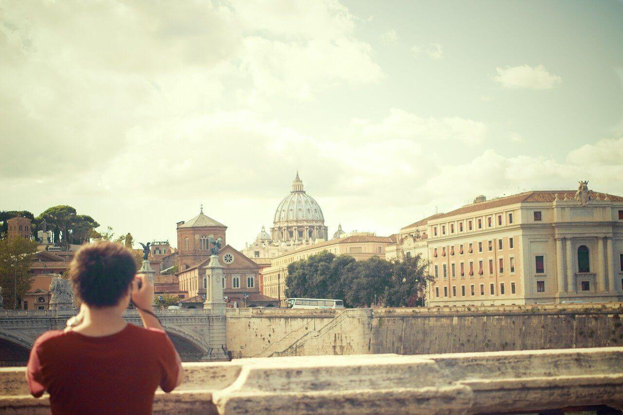 Taking pictures inside the Vatican