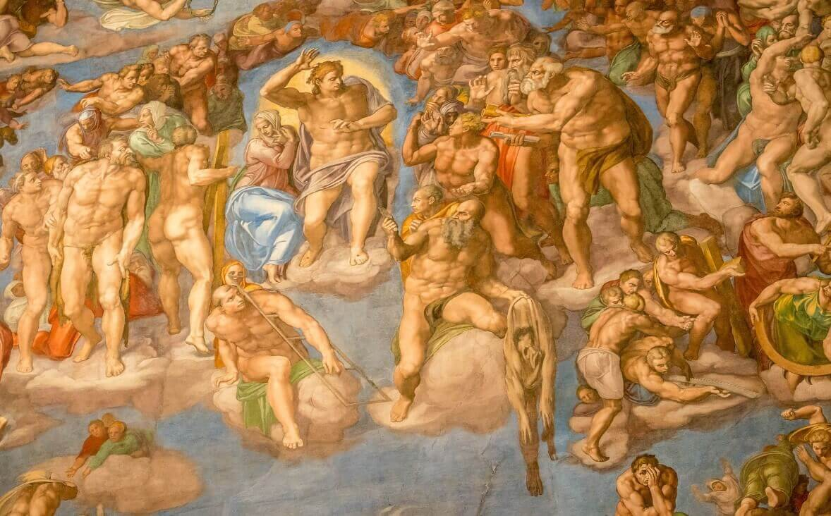 Sistine Chapel Painting figures