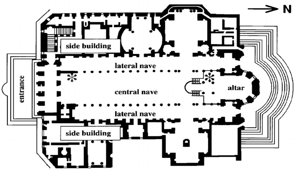 Floor plan Church Santa Maria Rome